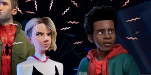 miles morales and spider-gwen spider-man into the spider-verse 2